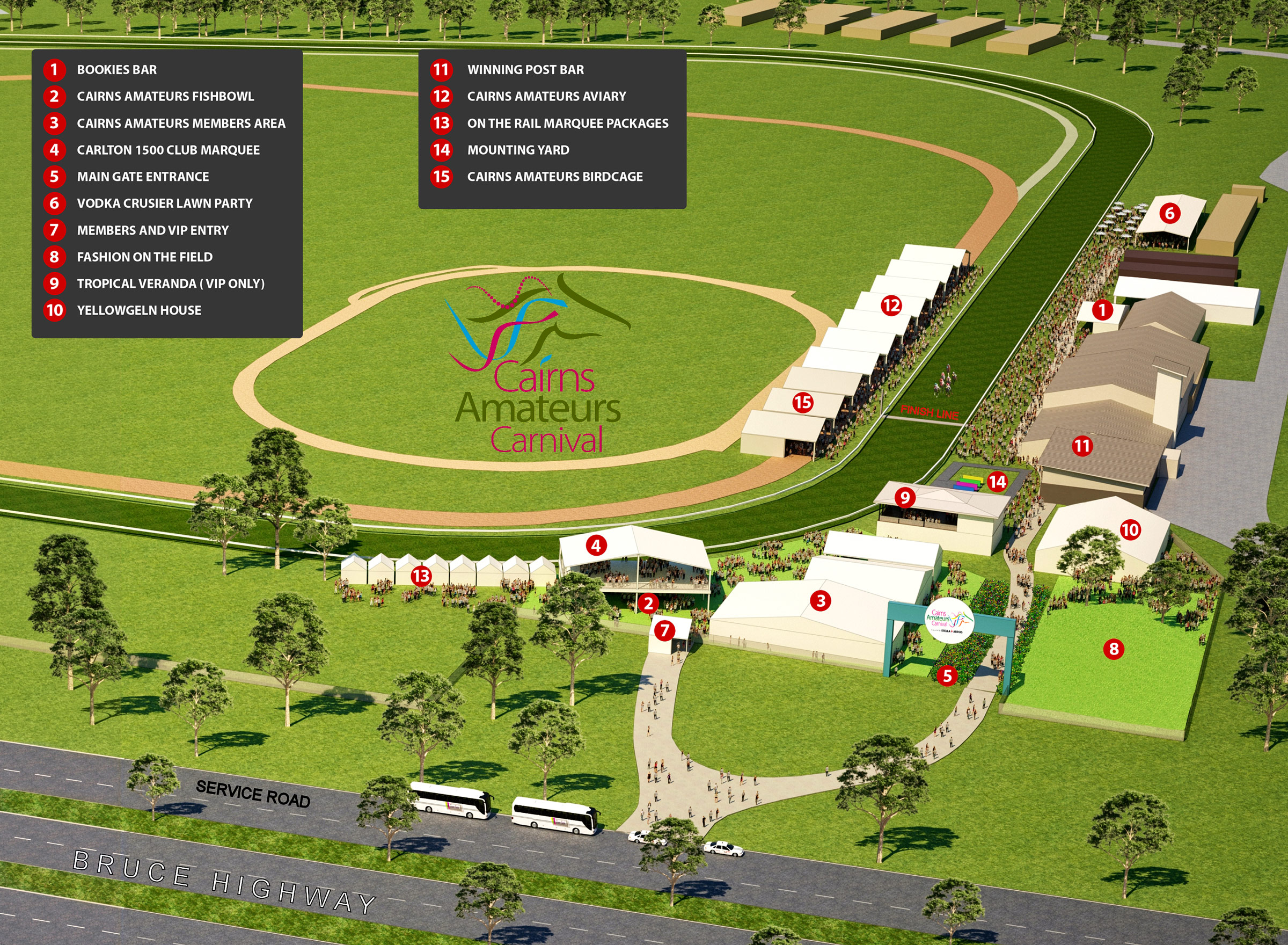 Cairns Amateurs Carnival Map