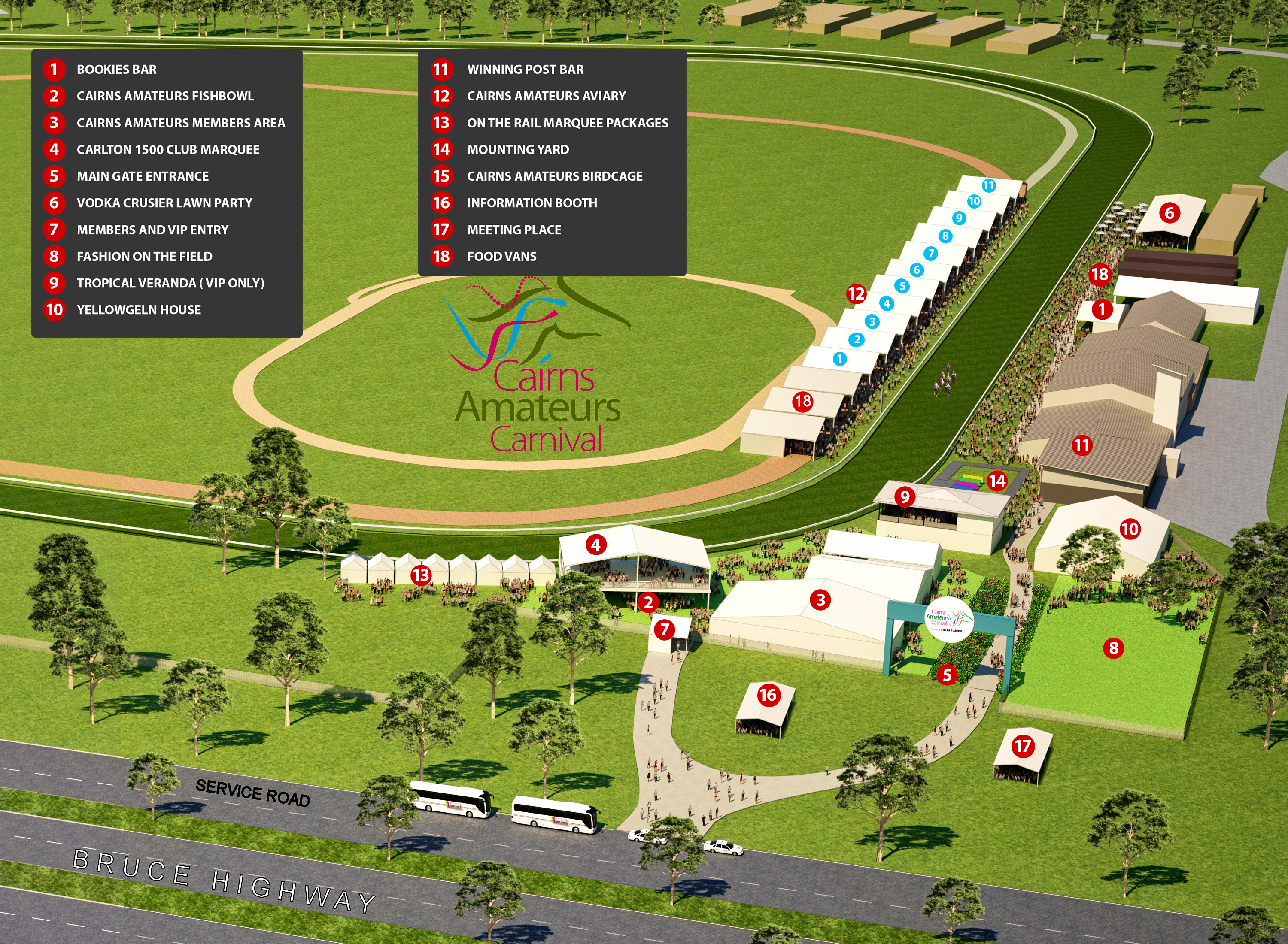 2019 Cairns Amateurs Carnival Map